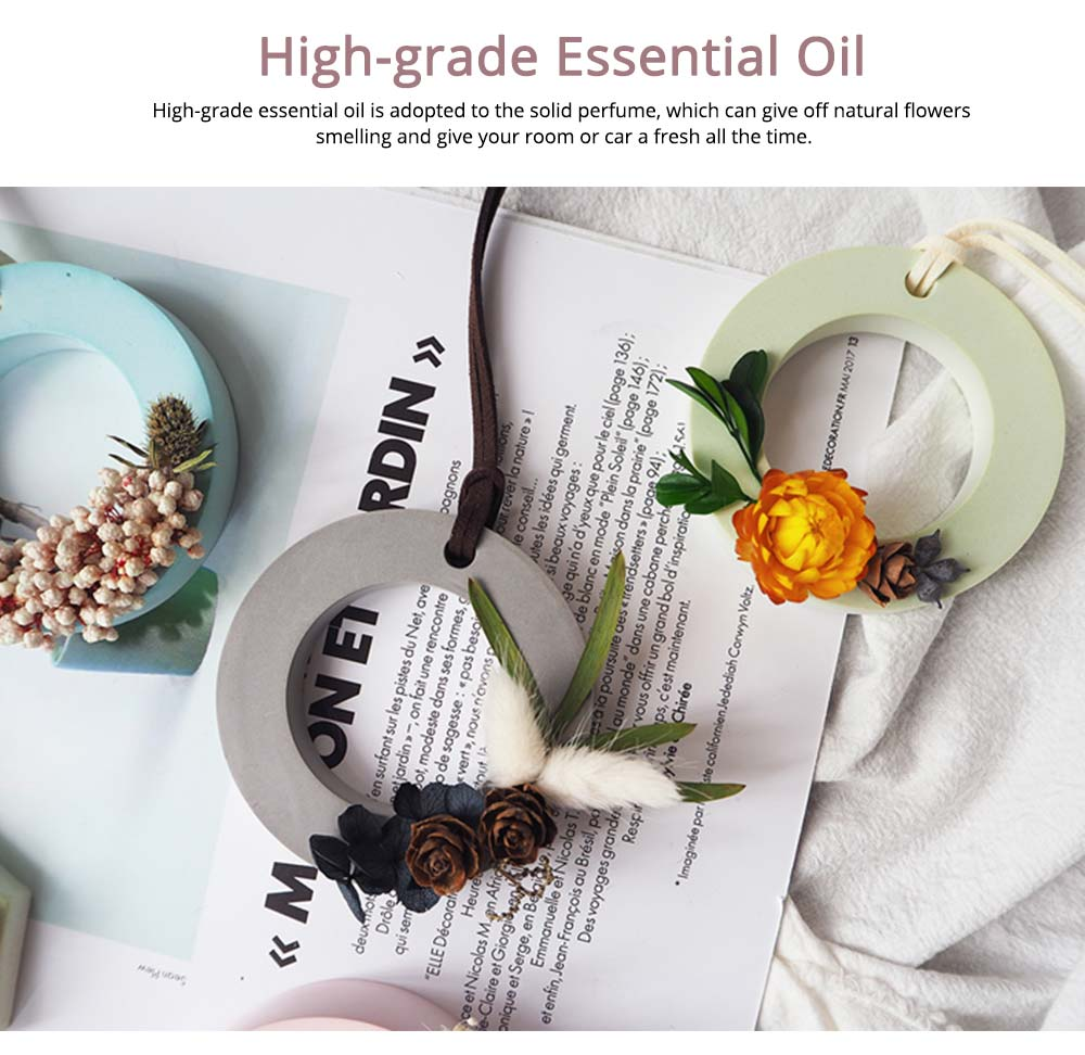 Preserved Fresh Flower Decoration Solid Gypsum Perfume, Car Home Pendant Widget Hand-made Fragrance Diffuser Stone 2