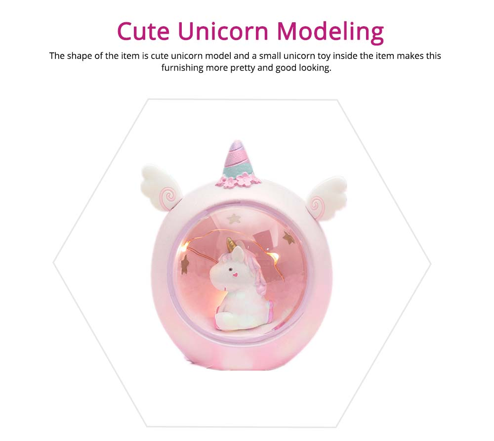 Creative Cute Unicorn Furnishings Home Decor, Durable Resin Shell New Year Birthday Present for Friends Ladies 11