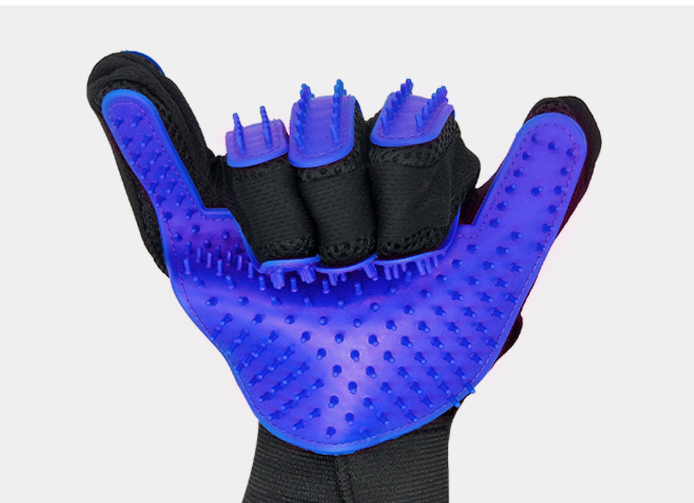 Pet Massage Gloves, Professional Dog Bath Shower Brush Massage Gloves, Double-Sided 6