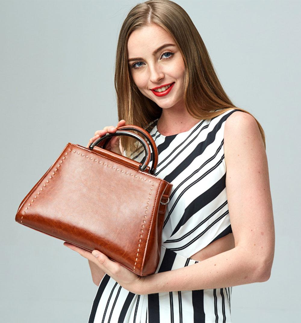 Women PU Leather Handbags, Waterproof Tote Bag for Ladies, Female Single Shoulder Crossbody Bags 11