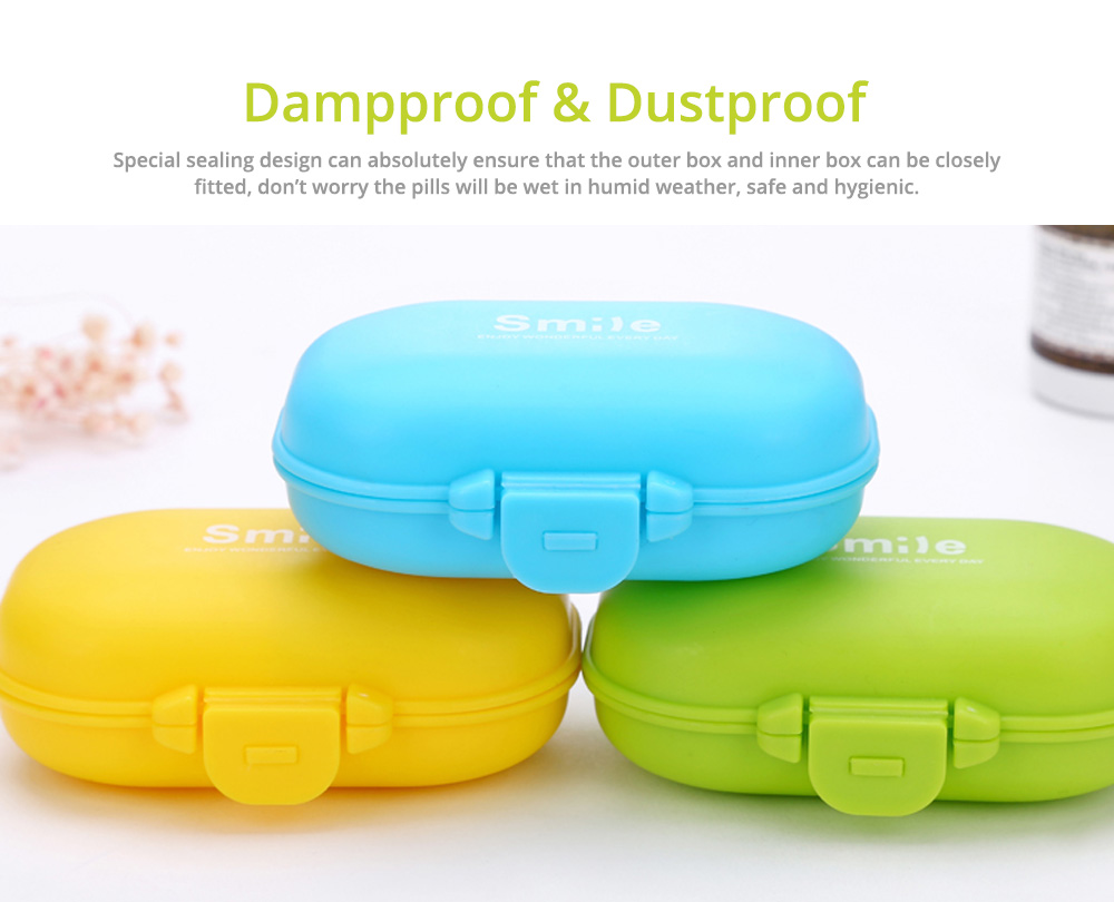 Large 4 Times A Day Pill Organizer, Dustproof 4 Grids Tablet Pills Portable Storage Case 7