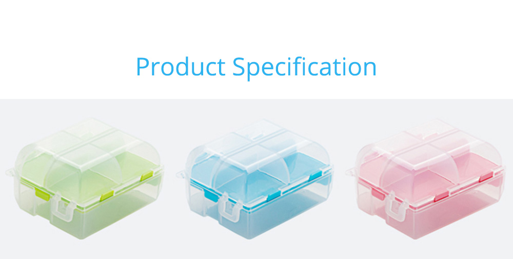 Double-Sided Pill Box Portable Separate Compartments Organizer Medicine Drug Storage Container Box 9