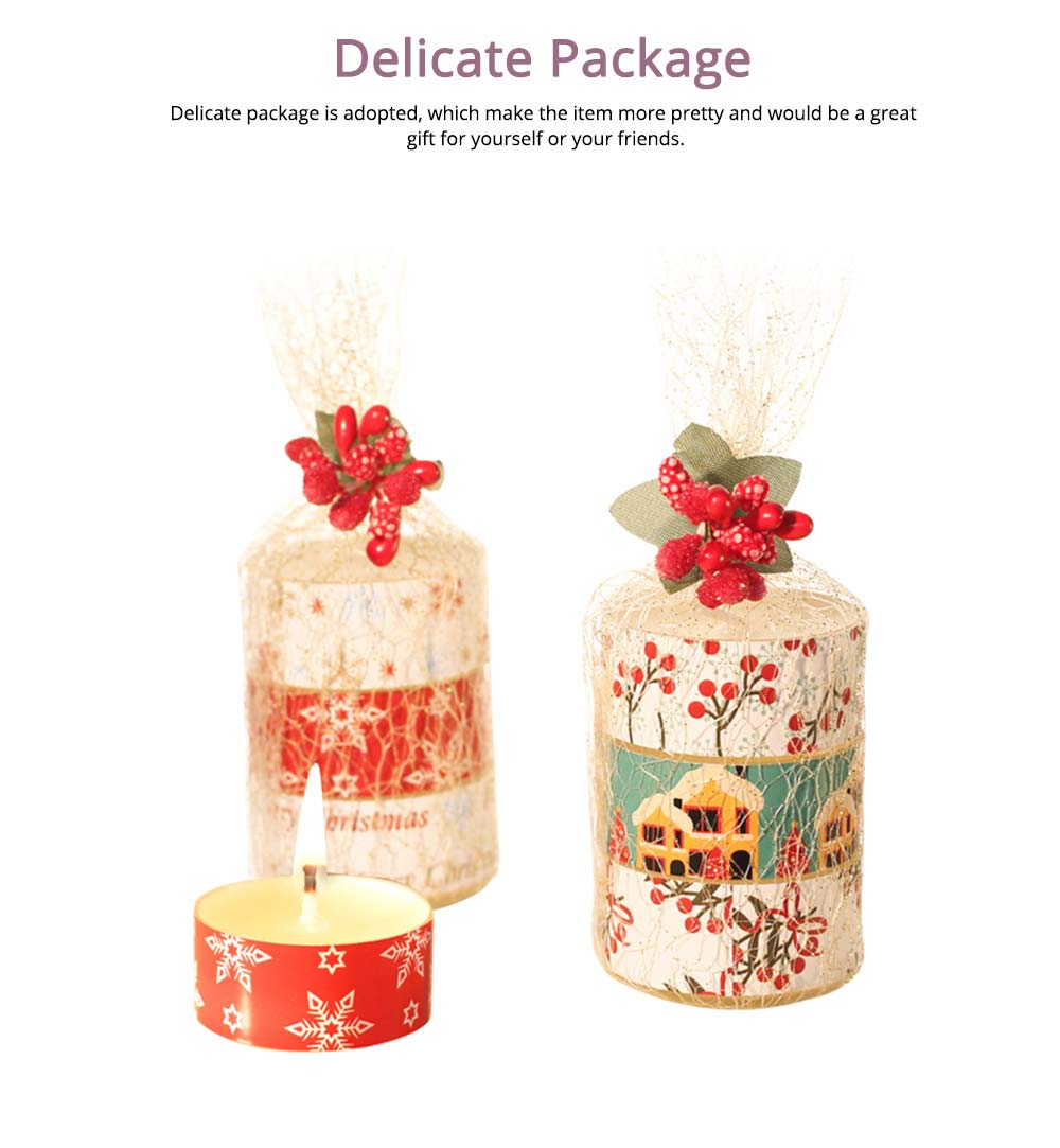 Creative Smokeless Fragrance Scented Candles 3PCS Set, Valentine's Day Christmas Present Gift Decorative Furnishing 4