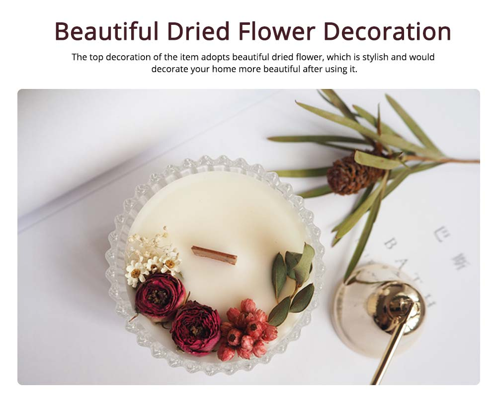 Hand-made Scented Candles with Dried Flowers and Pretty Glass, Creative Festival Home Decoration Furnishings Gift for Friends 4