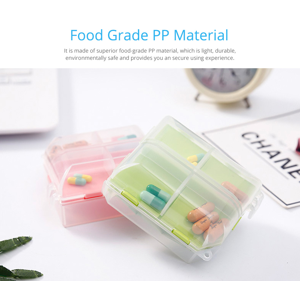 Double-Sided Pill Box Portable Separate Compartments Organizer Medicine Drug Storage Container Box 2