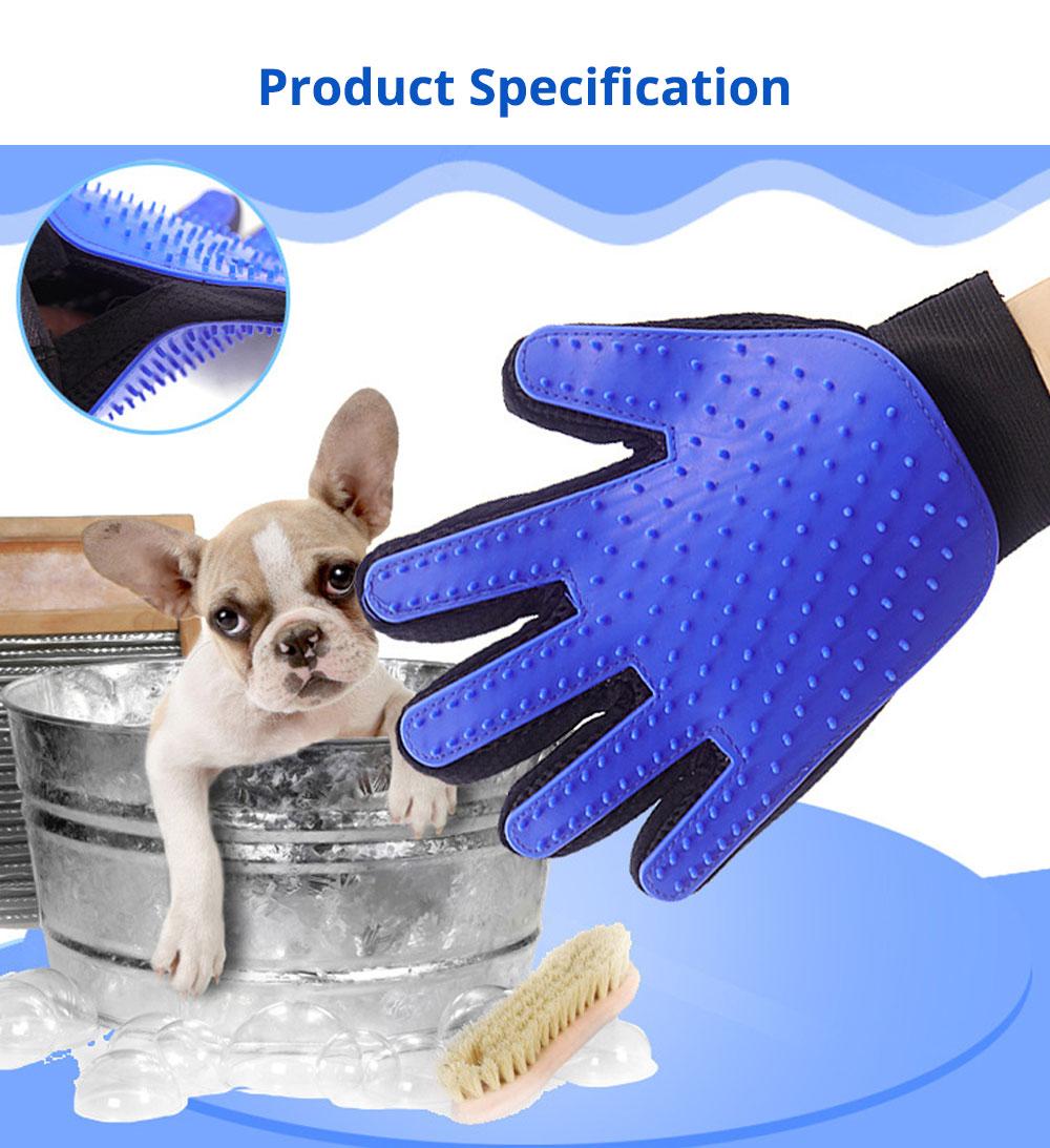 Pet Massage Gloves, Professional Dog Bath Shower Brush Massage Gloves, Double-Sided 9