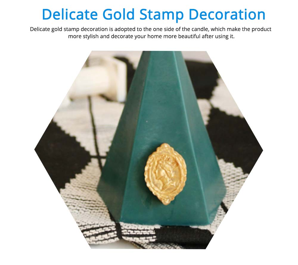 Taper Smokeless Scented Candles with Gold Stamp Decoration, Fresh and Pleasant Fragrance Quiet the Spirit Living room Decoration Candle 10
