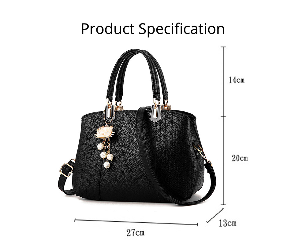 Single Shoulder Bag, Women PU Leather Messenger Bags for Ladies, Waterproof Female Luxury Cross Body Handbags with Hello Kitty Pendant 22