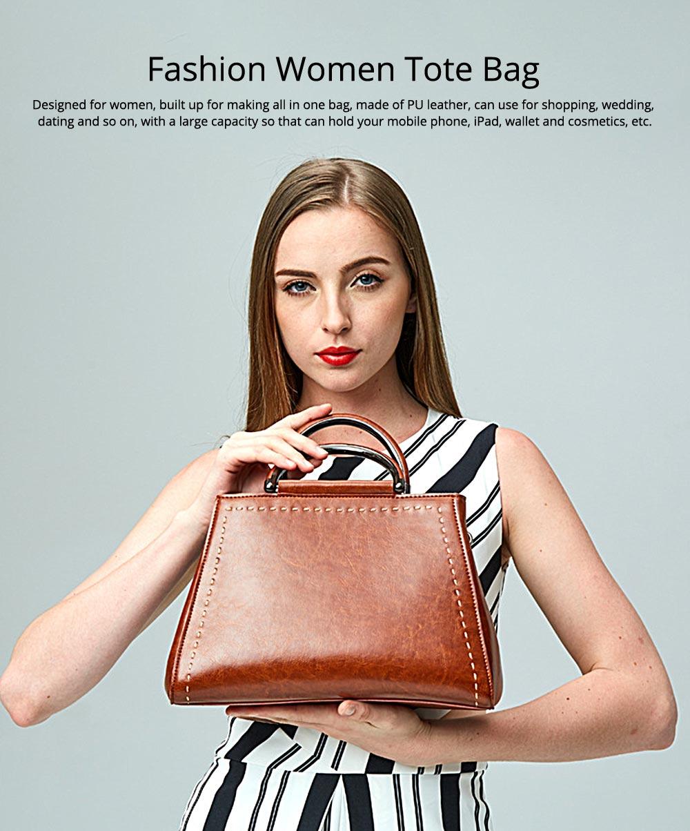 Women PU Leather Handbags, Waterproof Tote Bag for Ladies, Female Single Shoulder Crossbody Bags 0