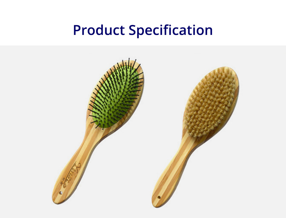 Pet Comb Dog Grooming Brush for Bath and Massage, Professional Double Sided Pin & Bristle Bamboo Brush for Dogs & Cats 7