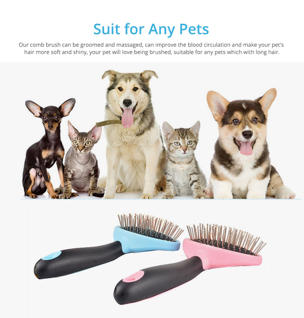 Pets Cleaning Massage Dog Comb Pet Cleaning Products, Grooming Brush Open-Knot Comb Brush for Dogs & Cats 5