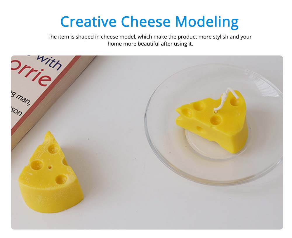 Hand-made Scented Candles, Creative Cheese Shaped, Bluebell Fragrance Home Bedroom Living Room Decoration Candle 4