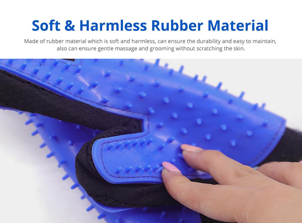Pet Massage Gloves, Professional Dog Bath Shower Brush Massage Gloves, Double-Sided 2