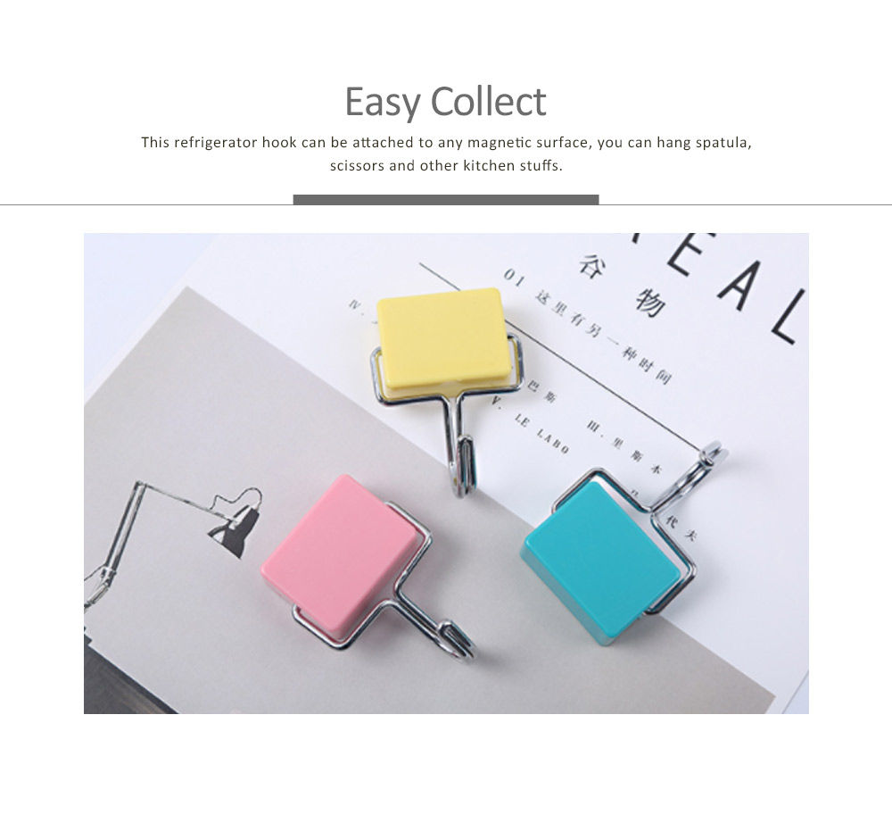 Nail-free Magnetic Hooks With Stickers Set, Japanese Style Powerful Strong Magnetic Hook for Kitchen Refrigerator Hanger 1
