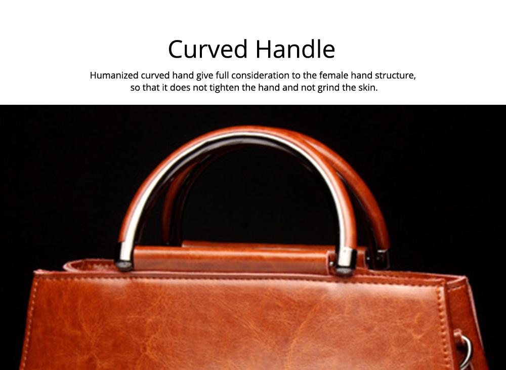 Women PU Leather Handbags, Waterproof Tote Bag for Ladies, Female Single Shoulder Crossbody Bags 3