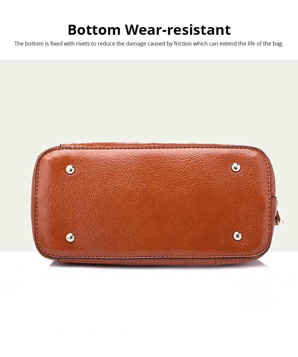 Fashion Wild Simple Shoulder Bag With Smooth Hardware Zipper, Crocodile Elegant Portable Handbag for Ladies 12