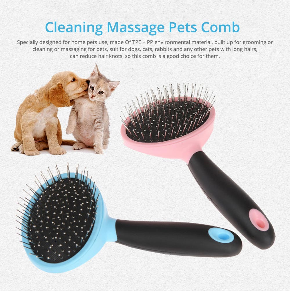 Pets Cleaning Massage Dog Comb Pet Cleaning Products, Grooming Brush Open-Knot Comb Brush for Dogs & Cats 0