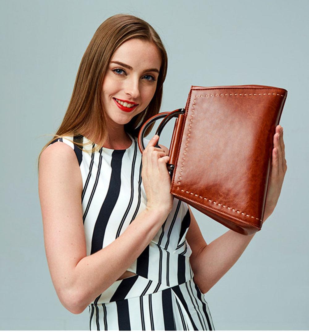 Women PU Leather Handbags, Waterproof Tote Bag for Ladies, Female Single Shoulder Crossbody Bags 10