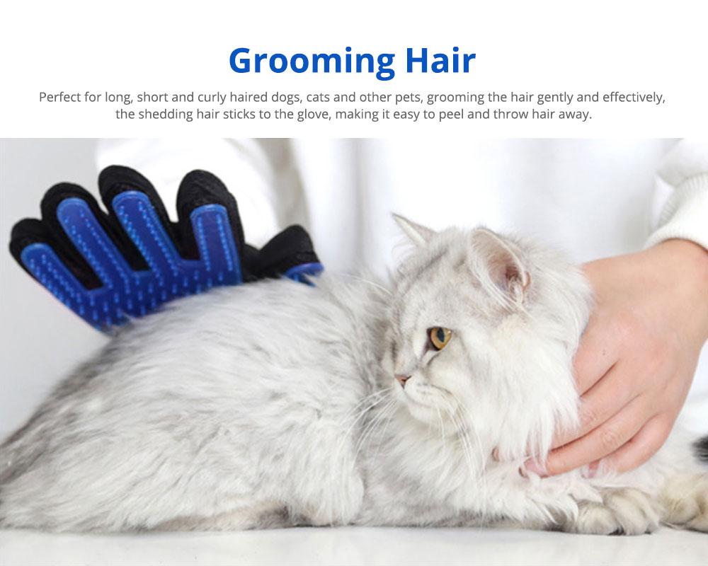 Pet Massage Gloves, Professional Dog Bath Shower Brush Massage Gloves, Double-Sided 5
