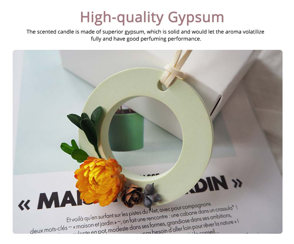 Preserved Fresh Flower Decoration Solid Gypsum Perfume, Car Home Pendant Widget Hand-made Fragrance Diffuser Stone 1