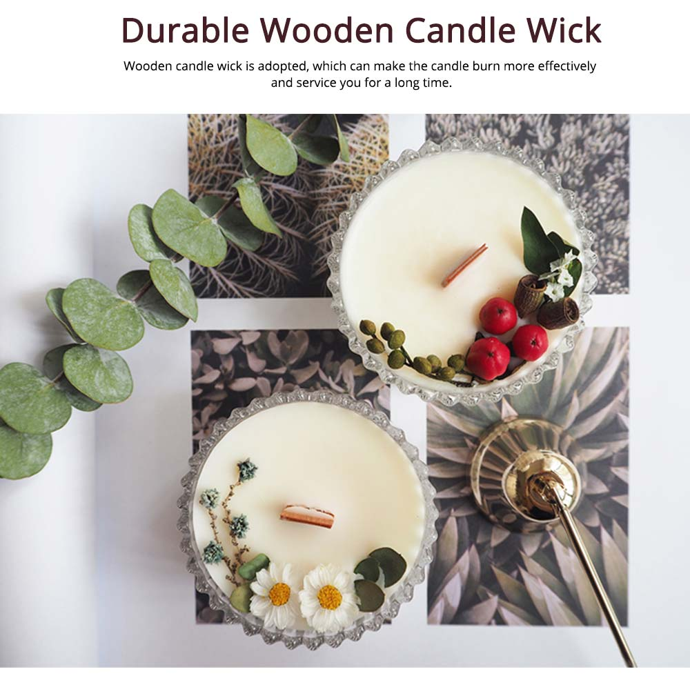 Hand-made Scented Candles with Dried Flowers and Pretty Glass, Creative Festival Home Decoration Furnishings Gift for Friends 5