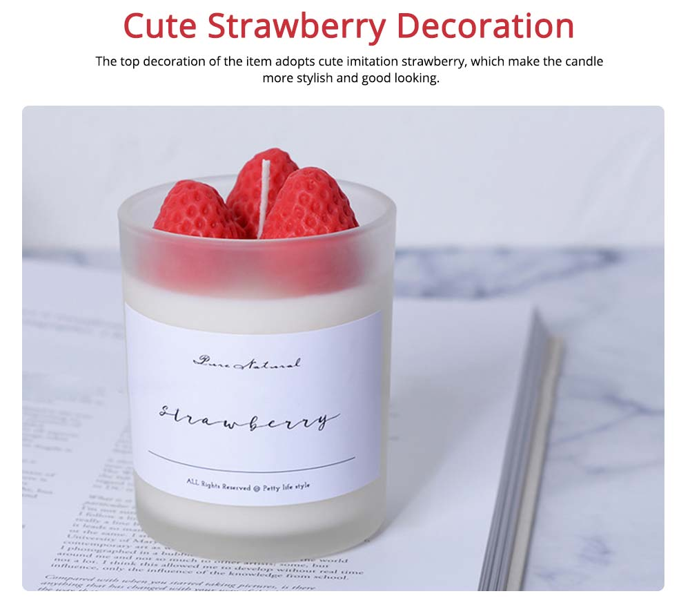 Sweet Strawberry Scented Candles, Home Decoration Furnishings Gift for Friends 4