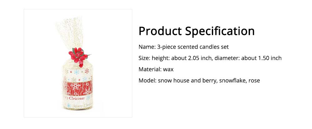 Creative Smokeless Fragrance Scented Candles 3PCS Set, Valentine's Day Christmas Present Gift Decorative Furnishing 6