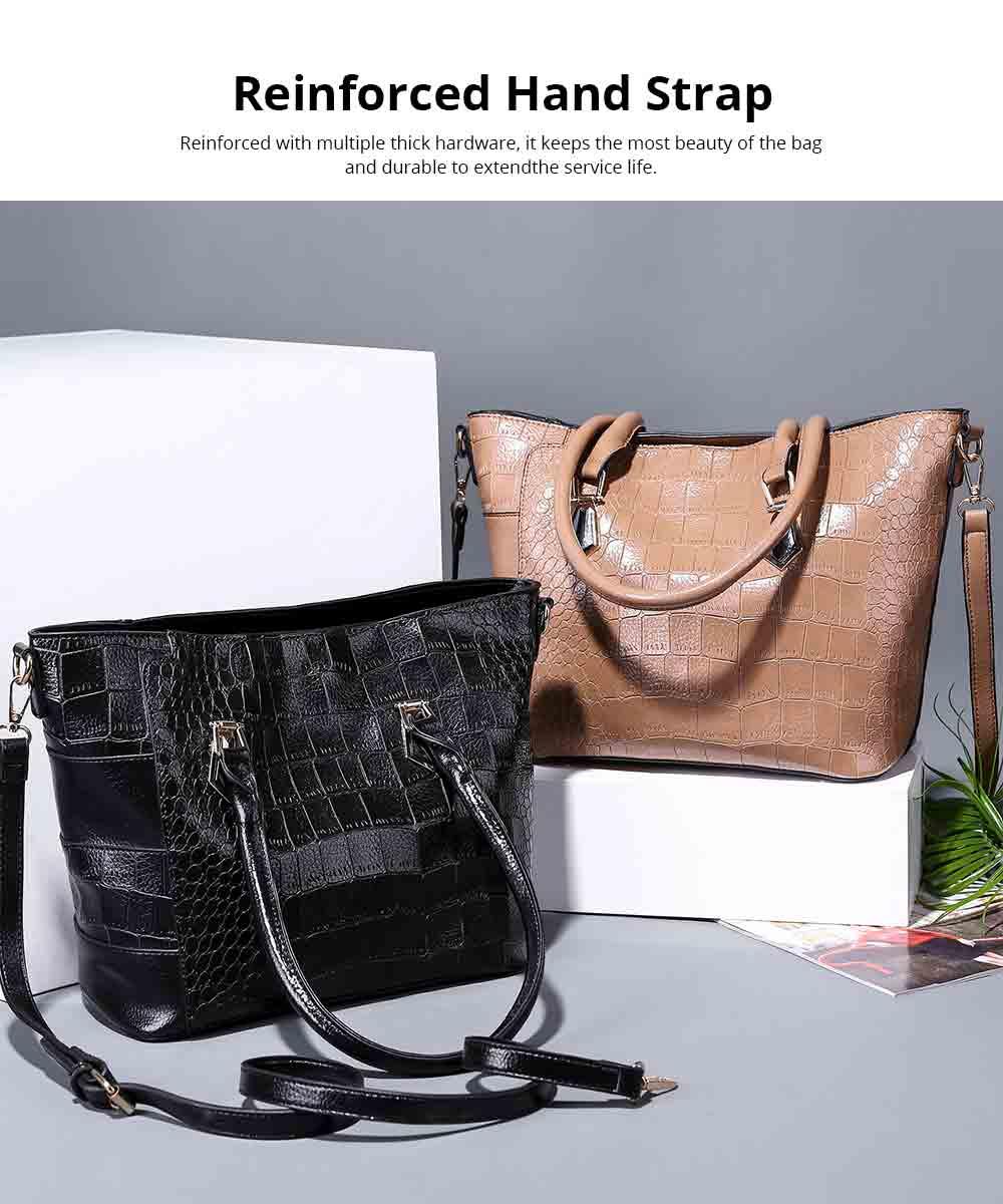 Fashion Wild Simple Shoulder Bag With Smooth Hardware Zipper, Crocodile Elegant Portable Handbag for Ladies 9