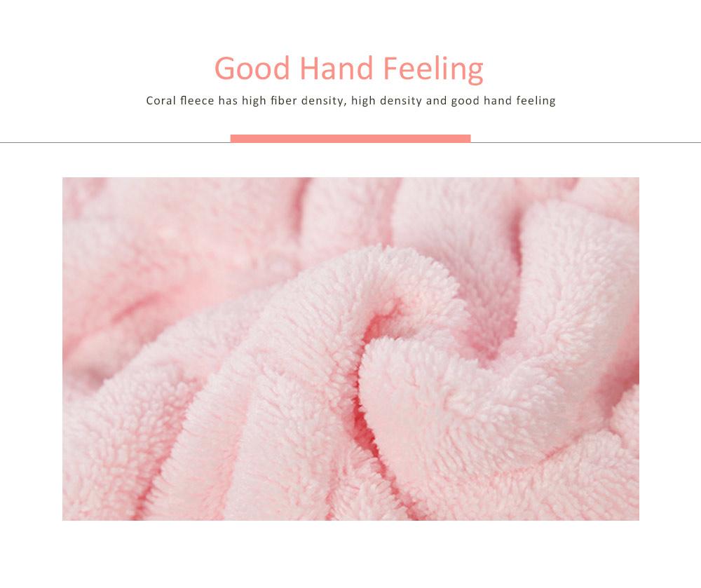 Coral Velvet Shower Cap, Super Absorbent Cat Ears Dry Hair Towel, Thickening Adult Children Universal Dry Hair Cap 1