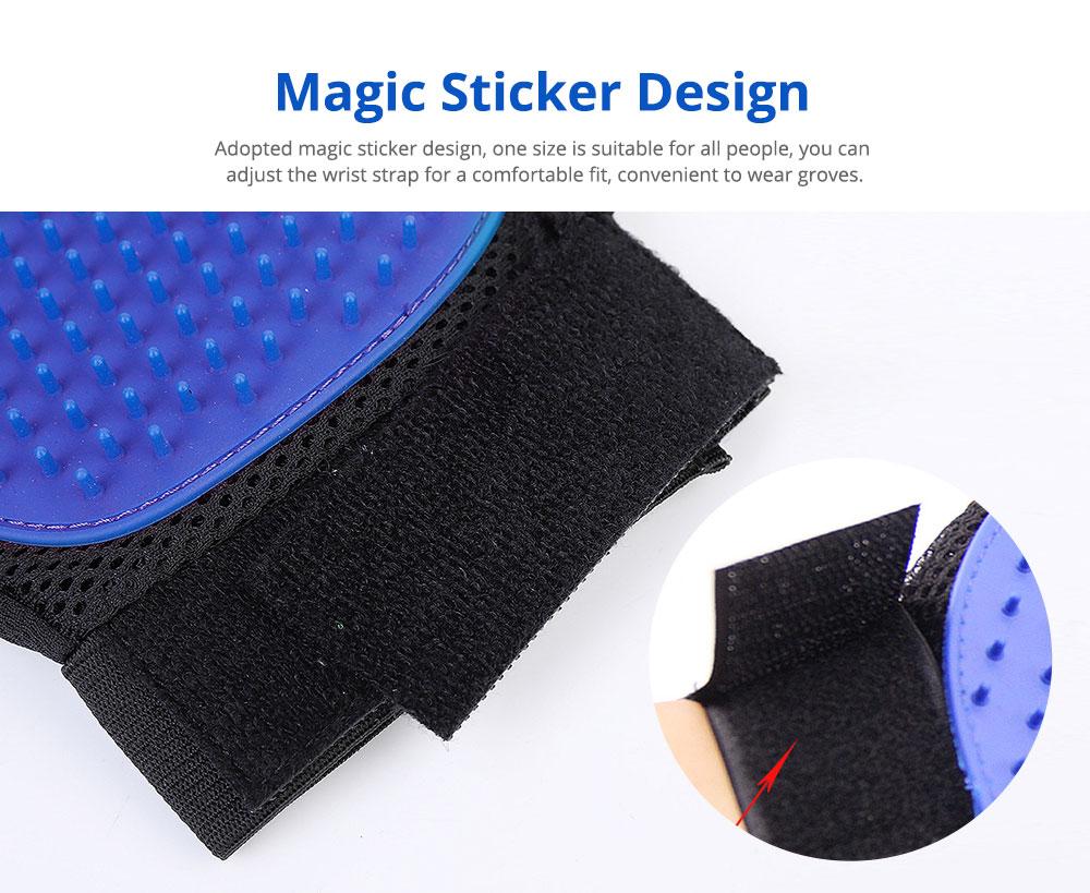 Pet Massage Gloves, Professional Dog Bath Shower Brush Massage Gloves, Double-Sided 4