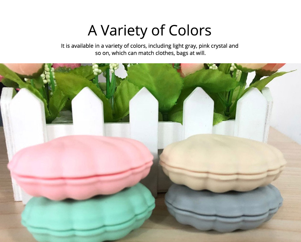 Scallop Pill Storage Box Multi-function Silicone Dustproof Storage Box for Capsule Candy Jewelry Gadgets 4