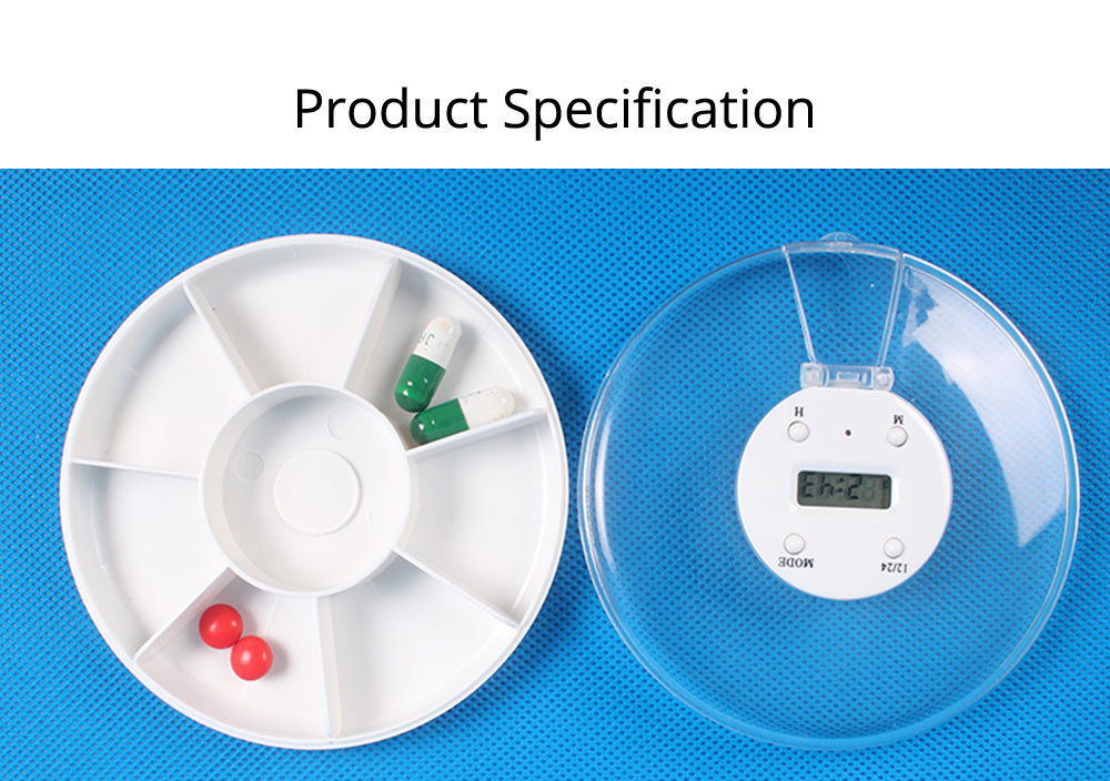 Pill Box With Timer Reminder, 7-divided Electronic Pill Reminder Box  Intelligent Electronic Kit 17