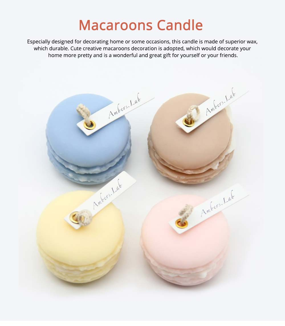 Cute Macaroons Candle, Valentine's Day Weeding Birthday Decorative Furnishing 0