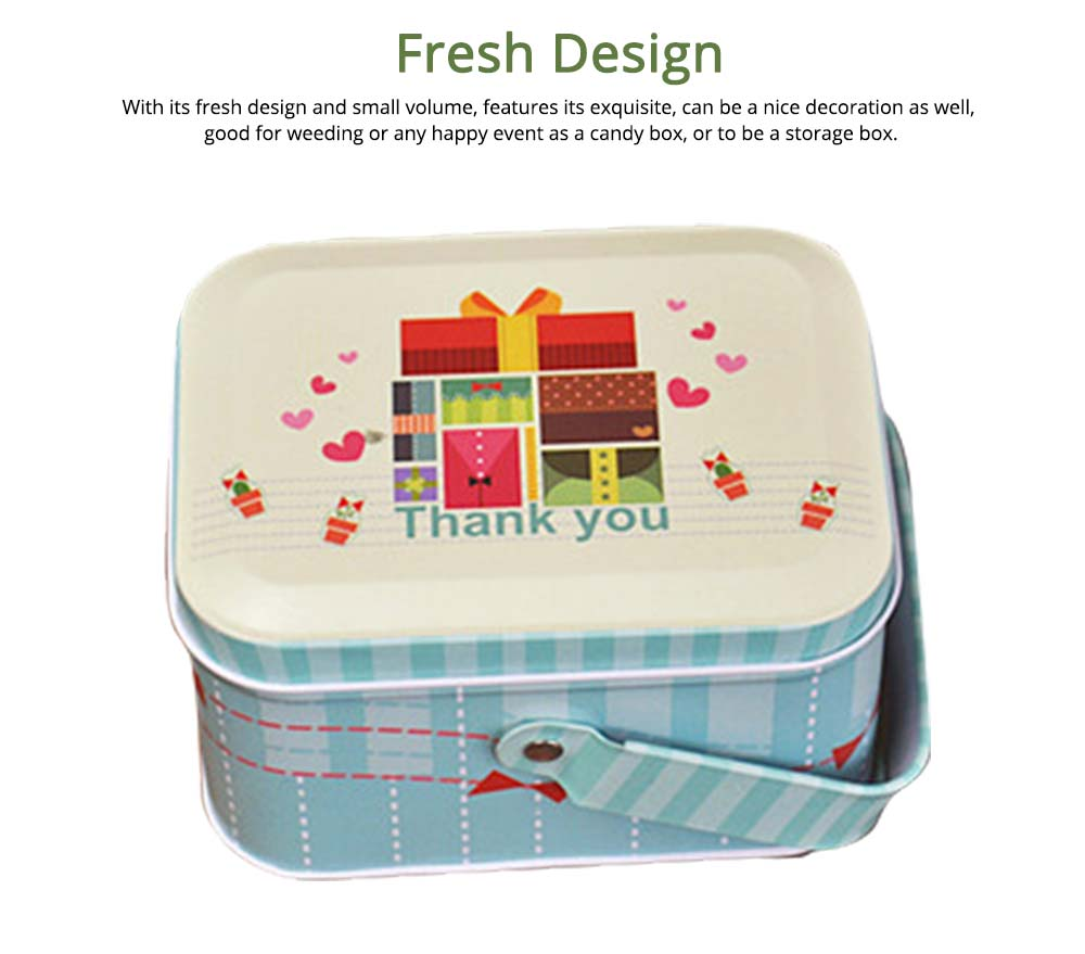 Portable Candy Box with Cover, Iron Storage Box for Weeding, Party, Gathering, Gift Bag Sugar Box 3