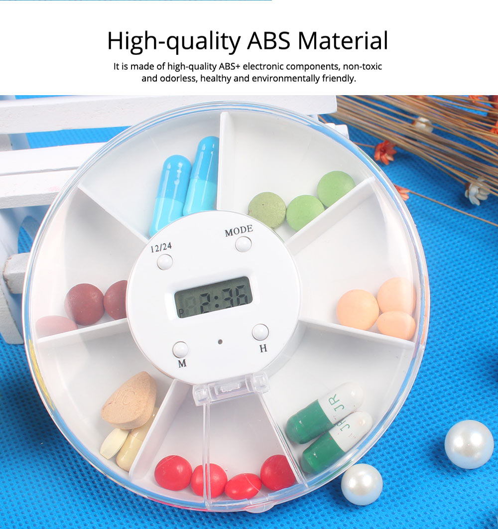 Pill Box With Timer Reminder, 7-divided Electronic Pill Reminder Box  Intelligent Electronic Kit 13