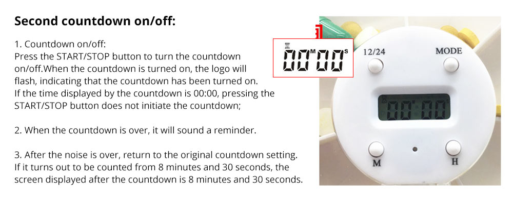 Pill Box With Timer Reminder 7-divided Electronic Pill Box Intelligent Electronic Kit 8