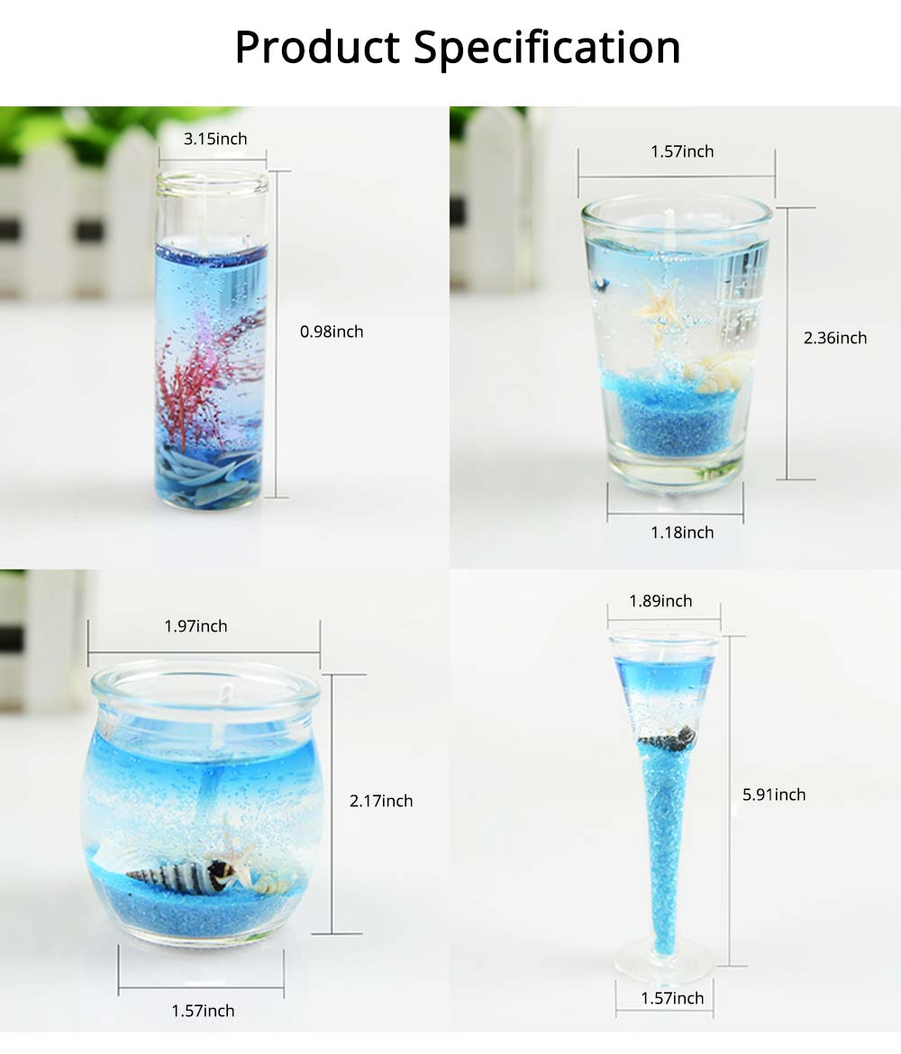 Romantic Fragrance Scented Candles Set Marine Organism Decoration, Valentine's Day Weeding Birthday Present Jelly Candle Suit 6