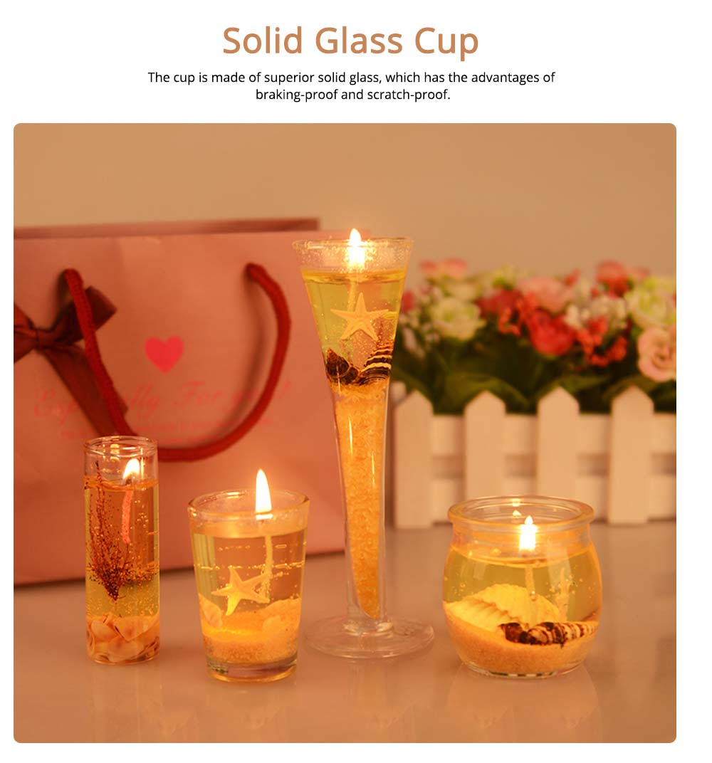 Romantic Fragrance Scented Candles Set Marine Organism Decoration, Valentine's Day Weeding Birthday Present Jelly Candle Suit 4