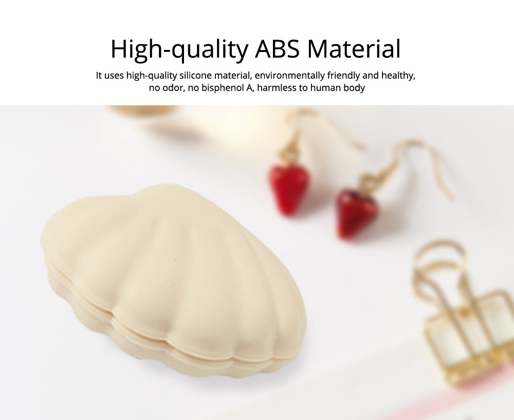 Scallop Pill Storage Box Multi-function Silicone Dustproof Storage Box for Capsule Candy Jewelry Gadgets 1