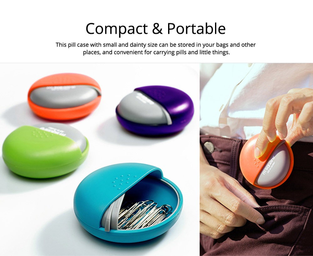 Round Pill Box Organizer Rotary Switch Mini Medical Pill Case for Pills Jewelry Chewing Gums 6