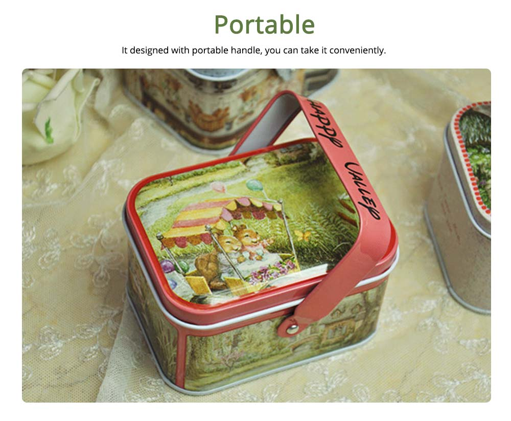 Portable Candy Box with Cover, Iron Storage Box for Weeding, Party, Gathering, Gift Bag Sugar Box 1