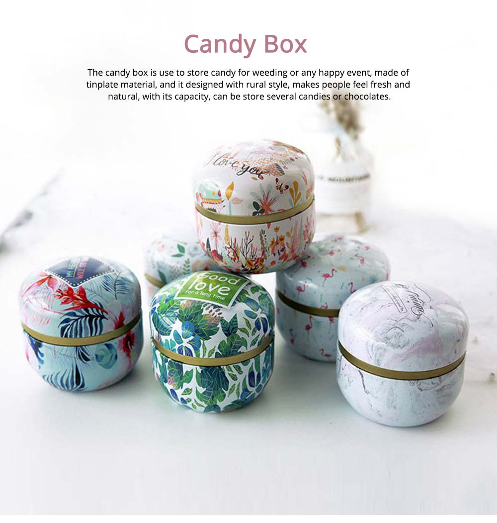 Candy Boxes For Wedding Favors, Tinplate Sweet Sugar Box, Elegant Rural Style Box 0