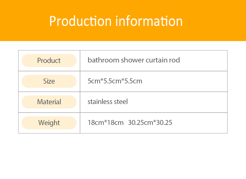 Bathroom Shower Curtain Rod, Telescopic Rod Simple Curtain Rod, Balcony Clothes Pole, Free Punching Free Installation 7