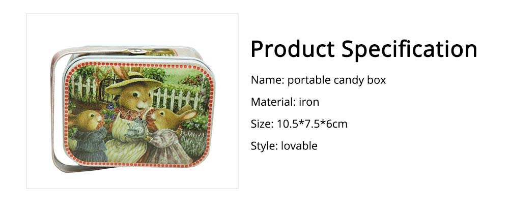 Portable Candy Box with Cover, Iron Storage Box for Weeding, Party, Gathering, Gift Bag Sugar Box 6