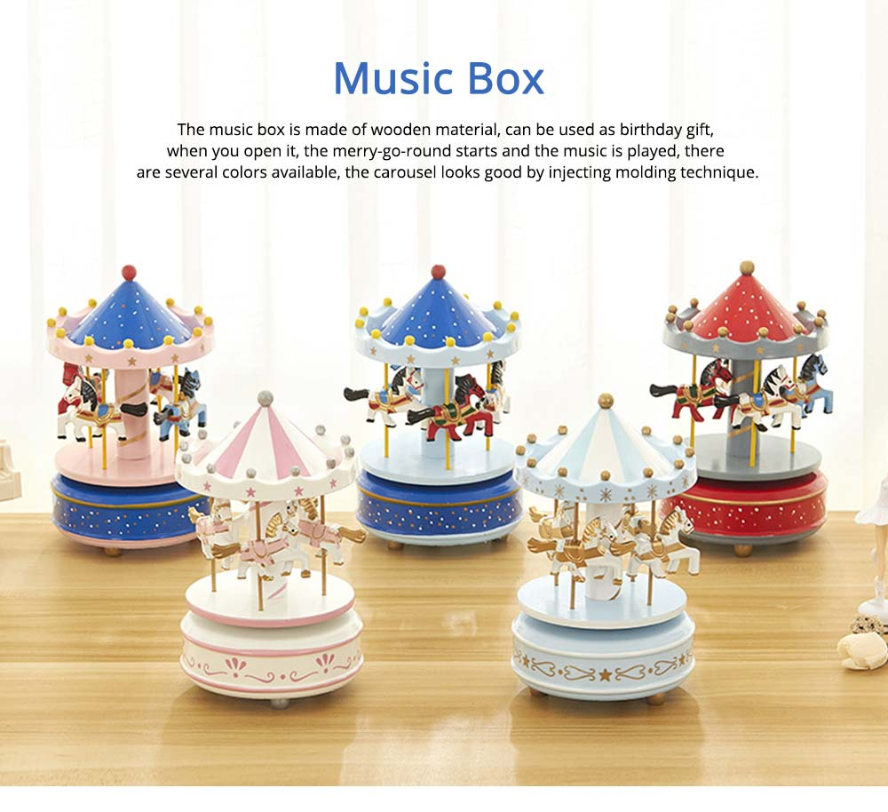 Carousel Music Box for Girls, European Style Children Day's Gift, Birthday Gift, Valentine's Day Music Box Music Toy 0