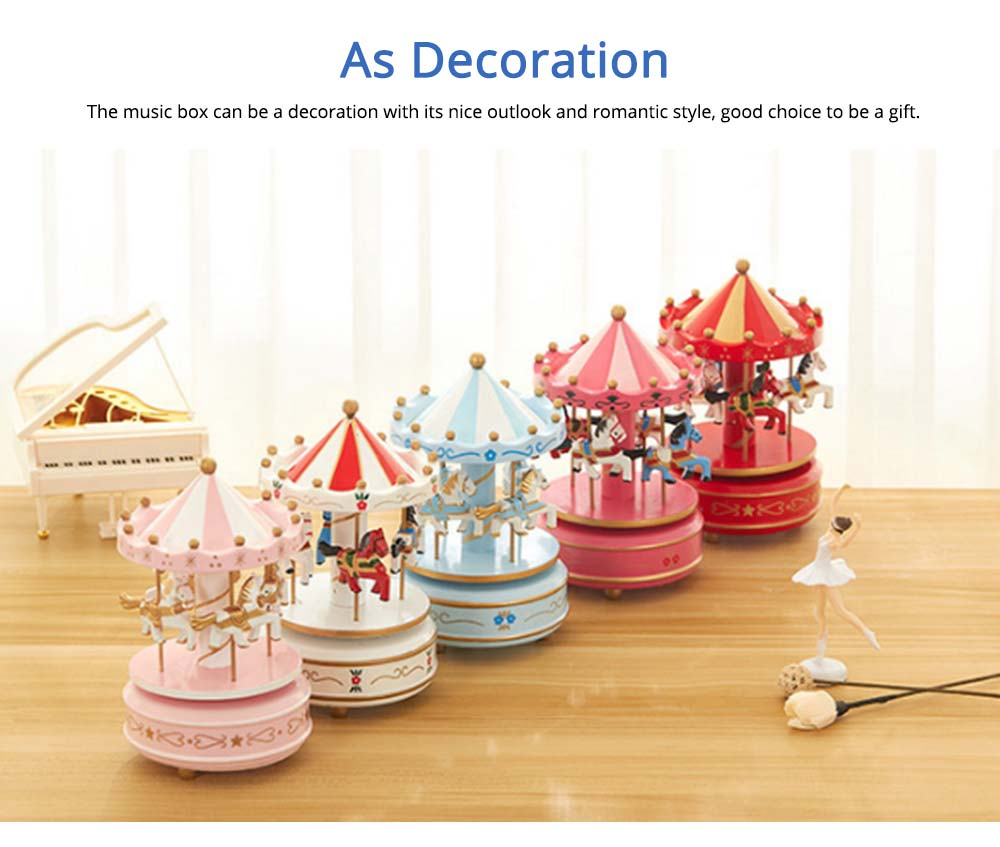 Carousel Music Box for Girls, European Style Children Day's Gift, Birthday Gift, Valentine's Day Music Box Music Toy 5