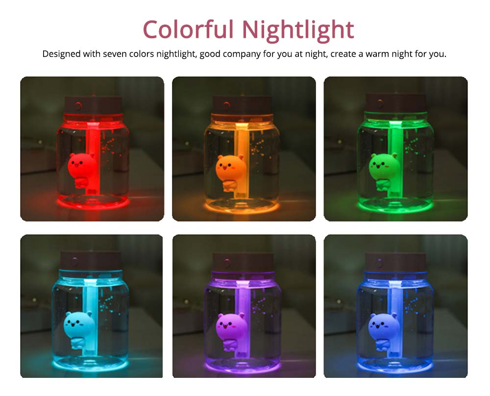 Mute Night Light Humidifier, Candy Bottle Humidifier for Office, Home, 400ML Capacity 3