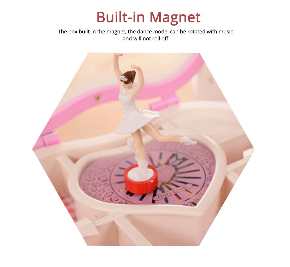 Heart Shape Music Box, Plastic Rotating Music Box for Girls, Gift for Valentine's Day, Christmas, New Year 3