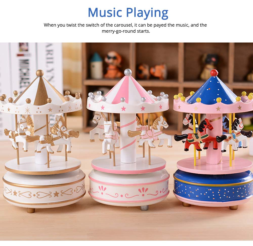 Carousel Music Box for Girls, European Style Children Day's Gift, Birthday Gift, Valentine's Day Music Box Music Toy 3