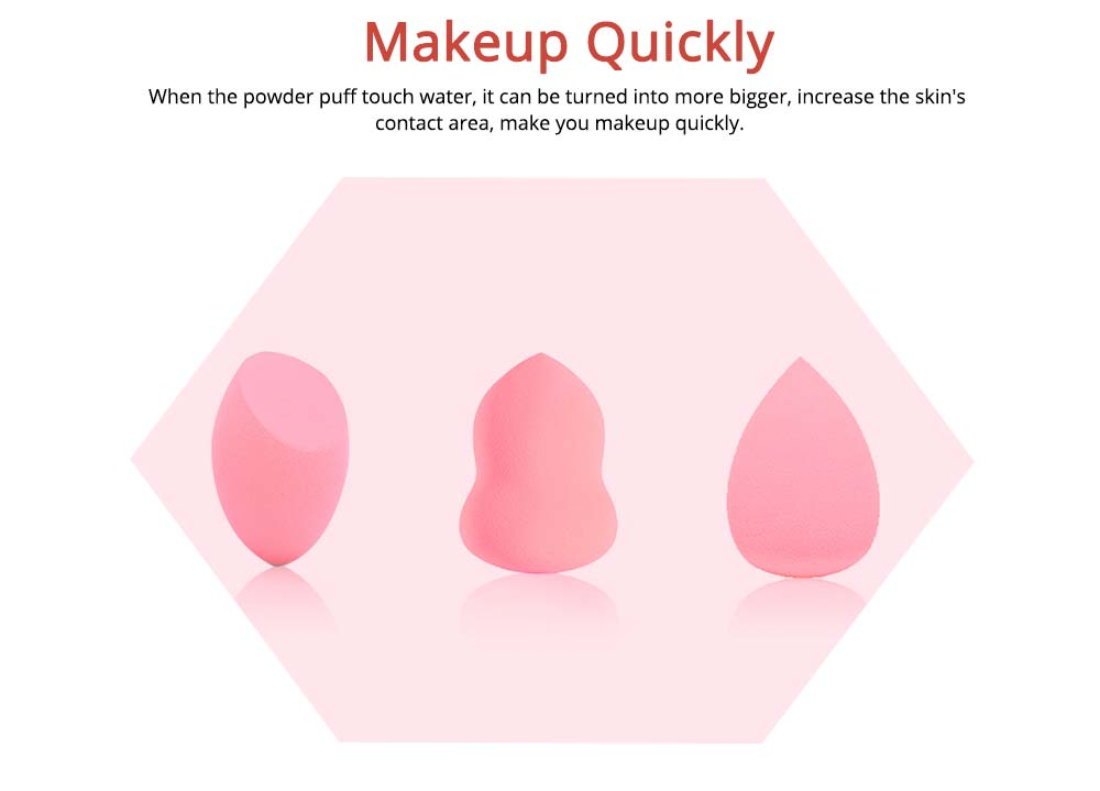 Sponge Powder Puff for Makeup, Dry Wet Beauty Blender with Gourd Powder Puff Drop Shape 3
